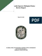 Wakulla Seaside Sparrow biological status report