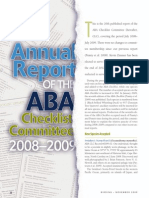 ABA Checklist Committee report 2008-2009