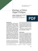 Etiology of Pelvic Organ Prolapse