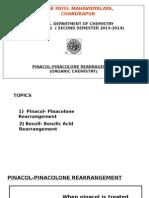 Pinacol Pinacolone Rearrangement