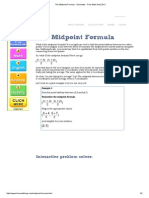 The Midpoint Formula - Geometry - Free Math Help 2011