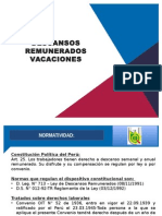 DESCANSOS REMUNERADOS VACACIONES.pptx
