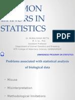 Common Errors in Statistics