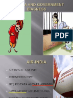 Air-India,And Government Biasness