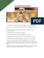 Cele zece citate ale lui Confucius