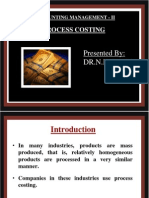 Process Costing,RAMAN ROY