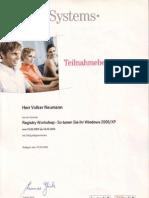 Registry, Microsoft Windows Registry-Workshop, Volker Neumann at T-Systems International