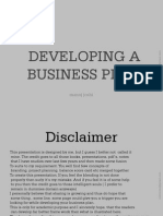 How to Delope a Business Plan