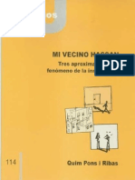 CJ 114, Mi Vecino Hassan, Tres Aproximaciones al Fenómeno de la Imigración - Quim Pons i Ribas