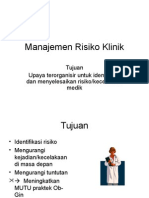 Manajemen risiko klinik
