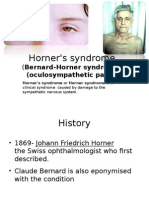 Horner's Syndrome Final