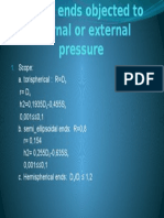 Domed Ends Objected to Internal or External Pressure