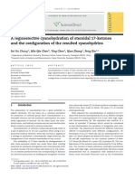 A regioselective cyanohydration of steroidal 17-ketones and the configuration of the resulted cyanohydrins