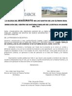 Invitacion de Capacitacion de Historia Familiar y Obra Del Templo