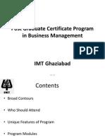 Detailed Program Contents - PGCBM Imt