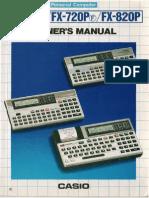 Casio FX-720P Owners Manual