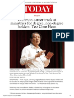 Common Career Track at Ministries for Degree, Non-Degree Holders_ Teo Chee Hean (TODAY_Mar 10 2015)