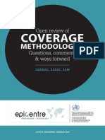 Open Review of Coverage Methodologies Questions Comments and Way Forwards by Epicentre