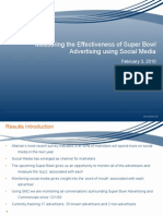 Super Bowl Social Media Results3Feb10