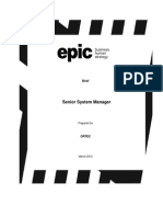 Brief Senior System Manager ORTEC