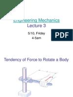 Engineering Mechanics - Moment