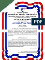 Modelo Carta de Aceite