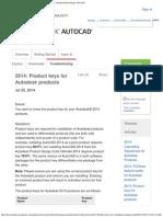 2014_ Product Keys for Autodesk