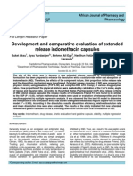 Development and Comparative Evaluation of Extended Release Indomethacin Capsule