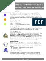 Year 2 Curriculum Newsletter - Summer 2015