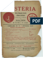 Mysteria - février 1913
