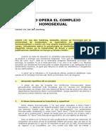 Como Opera El Complejo Homosexual