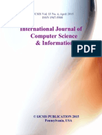 Journal of Computer Science IJCSIS April 2015