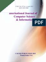 Journal of Computer Science IJCSIS April 2015