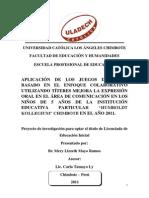 Modelo de Proyecto Uladech Carrera profesional de Educación