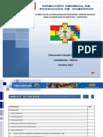 Plan de estudios Ciencias Sociales Bolivia