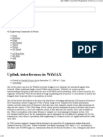 Uplink Interference in WiMAX - 4G360
