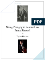 string pedagogue research on franz simandl