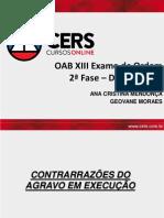 14 - Slides - Contrarrazões do Agravo em Execução.pdf