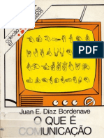 O que é Comunicação - BORDENAVE, Juan E. Díaz