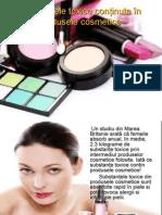 Substanţele Toxice Conţinute În Produsele Cosmetice
