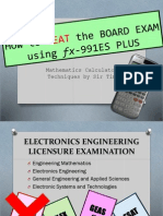 160180511 How to Beat the Board Exam Using Es991 Plus