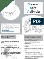 Panfleto Crescer Sem Violência