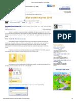Cómo Relacionar Tablas en Ms Access 2010