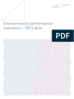 Environmental performance indicators - 2013 data