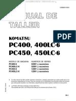 Manual Taller Excavadoras Hidraulicas Pc400 Lc6 Pc450 Lc6 Komatsu