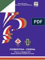 Fiorentina Cesena Match Program