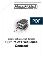 culture of excellece contract cover