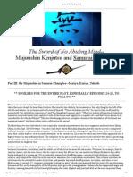 Part III - The Mujuushin in Samurai Champloo - Sword of No Abiding Mind