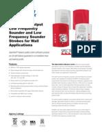 System Sensor P2RH-LF Data Sheet
