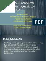 Pantang Larang Pelbagai Kaum Di Malaysia